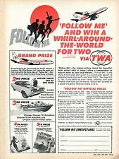 1969 Follow Me Movie Sweepstakes Whirl Around The World For Two Via TWA Ad