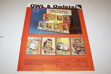 Vintage WARREN PAPER PRODUCTS - OWL PUZZLES ad sheet #0226