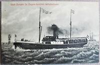 AK Wilhelmshaven Städt.Dampfer Dr. Ziegner-Gnüchtel  um 1917