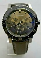 """Burberry BU9384 Black / Brown Analog Men's Watch Size 7 3/4"""" See Condition Used"""