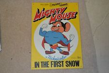 """MIGHTY MOUSE IN THE FIRST SNOW TIN METAL SIGN 17.5"""" x 12.5"""" FREE SHIPPING***"""