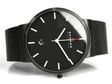 SKAGEN MEN'S ULTRA SLIM MESH BAND BLACK LUXURY WATCH SKW6053