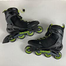 Rollerblade Zetrablade Elite Mens Fitness Inline Skates Size 12 Black & Lime
