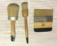 3 Folk Art Paint Chalk Brush Set