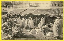 cpa Dos 1900 MAROC MOROCCO TANGER TETOUAN Marchands au Souk TETUAN Marché