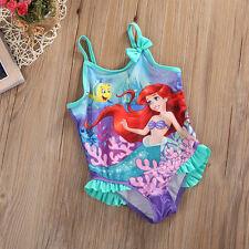 Toddlers Baby Girls Princess Mermaid Tankini Bikini Swimwear Swimsuit Beachwear