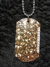 ball chain necklace designed by FashTagsz Blingy custom dog tag pendant with