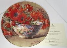 Royal Worcester-anémonas fulgens-Placa de la colección de Ramos de la naturaleza en Caja