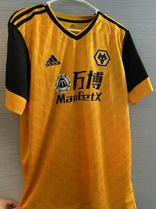 Willy Boly Wolverhampton 2020/2021 Home Adidas Soccer Jersey Large
