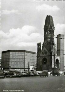 AK, Berlin, Gedächtniskirche, alte Autos