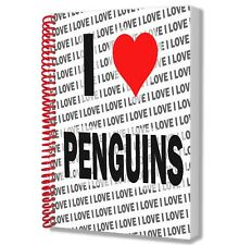 I Love Penguins - A5 Notebook - Notepad - Birthday - Christmas - Gift