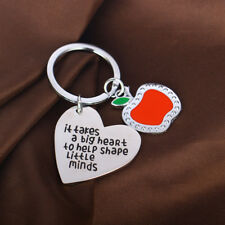 Keyring Keychain Key Chain Ring Pendant Apple Charm Love Heart Gift For Teachers