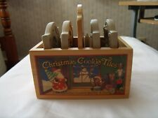 """BROWN BAG COOKIE ART COOKIE STAMPING TILES """"CHRISTMAS COOKIE TILES"""" WITH BOX"""