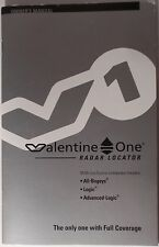 VALENTINE ONE 1 V1 Radar Laser Detector Original Owners Manual