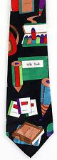 School Notebooks Mens Necktie Pencil Teacher Education Black Neck Tie Gift New