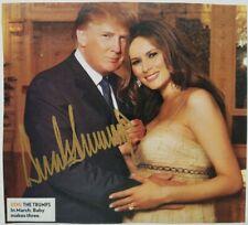 Autographed President Donald J. Trump Signed Photo w/ Melania Picture Autograph
