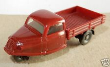 MICRO WIKING HO 1/87 GOLI DREIRAD TRICYCLE ROUGE FONCE no box