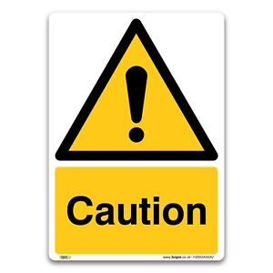Caution Sign - Self-adhesive Vinyl Sticker - Warning Construction Security