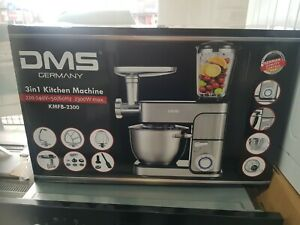 New Boxed DMS KMFB-2300 3 in 1 Kitchen Machine 2300W – Silver