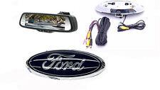 """Ford Emblem Backup Camera & 7.3"""" Rearview Mirror F150, F250, F350, F450, Flex"""
