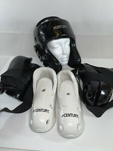CENTURY Sparring Gear Martial Adult Size. Black And White With bag. See Pictures