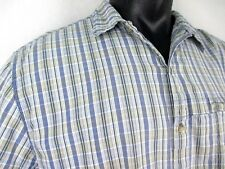 Bimini Bay Vented Blue Plaid Short Sleeve Shirt Men's size XXL Shell 100% Cotton