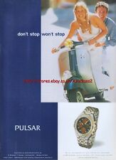 Pulsar Chronograph Split Time Facility Watch 1997 Magazine Advert #2522