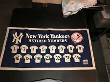 New York Yankees Retired Numbers Mitchell & Ness Banner. Only One On eBay.