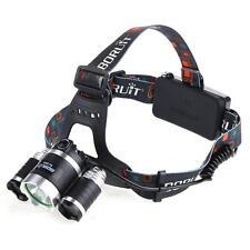 2015 5000LM 3-Head  1T6 2R2 LED Recharge 18650 Headlamp Headlight Light Lamp