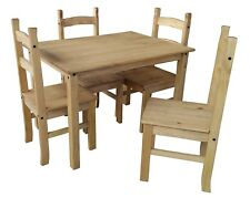 Dining Set Table and 4 Chairs Affordable Furniture Kitchen Patio Terrace Wooden