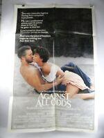 "1984 AGAINST ALL ODDS 27"" x 41"" Original Movie Poster Jeff Bridges Rachel Ward"