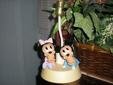 vintage disney baby mickey and baby minnie mouse with pacifiers lamp with night
