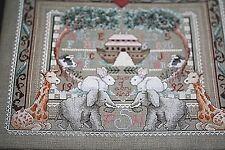 New Noah's Ark Cross Stitch Animals Elephants Kit 17 x 14 Janlynn    -CCCC