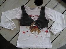 T-shirt manches longues blanc imprimé ourson avec gilet JEUX CALINS Taille 5 ans