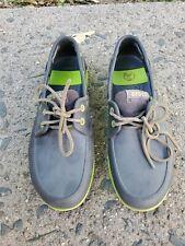 CROCS Beach Line Boat Tan Boat Shoes MENS Size 9