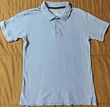 The Children's Place Boy's Solid Baby Blue Short Sleeve Polo Shirt, Size XL (14)