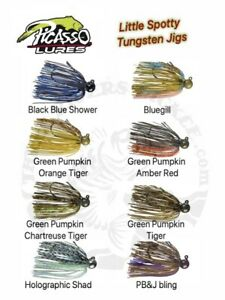 Picasso Lures Little Spotty Tungsten Finesse Jigs - Choose Size / Color