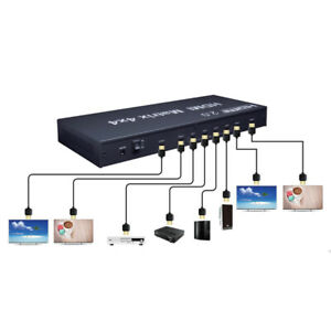 4K@60Hz HDMI Matrix Switch 4x4 4 in 4 Out Video Splitter For 18Gbps HDR HDMI 2.0
