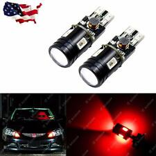 2x Error Free  Red 9W T10 194NA 2821 2886x High Mount Stop Light Bulbs