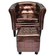Edle Chesterfield Edler Sessel Lounge Couch Sofa Wohnzimmer mit Sitzhocker NEU
