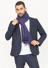 Écharpes bleus pour homme en 100% laine
