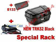 SUZUKI DL 650 V-STROM 2017 GIVI VALIGIA BAULE TRK52B BLACK + SR3112 + M5 + E133S