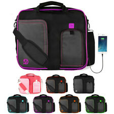 "VanGoddy Shoulder Messenger Travel School Bag Case For 10.1""-12"" Laptop /Tablet"