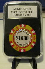 Monte Carlo Uncirculated $1000.00 Poker Chip in Case