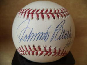 JOHNNY BENCH HOF 89 CINCINNATI REDS SIGNED AUTO M.L BASEBALL MOUNTED MEMORIES