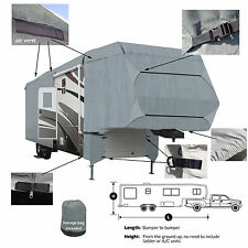 Deluxe 4-Layer 5th Wheel RV Motorhome Camper Cover 26'- 27' Zipper Access