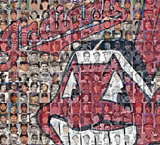 Cleveland Indians Photo Mosaic Print Art using 150 past and present players