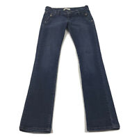 Roberto Cavalli Made In Italy Womens Blue Straight Jeans Size 27 Actual 28x31