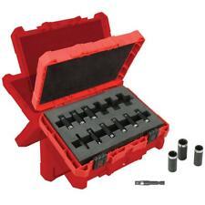 Milwaukee 49-66-4301 1/4-Inch Drive Shockwave Deep Well Socket Set - 12pc