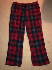 Mens Croft And Barrow Pajama Pants Soft Wuality Plad Size XL Red Black Grey